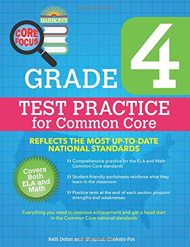 Barron's Core Focus: Grade 4 Test Practice for Common Core