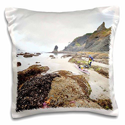 - Danita Delimont - Kayaking - USA, Washington, Olympic National Park, Sea kayak - US48 GLU0341 - Gary Luhm - 16x16 inch Pillow Case (pc_147904_1)