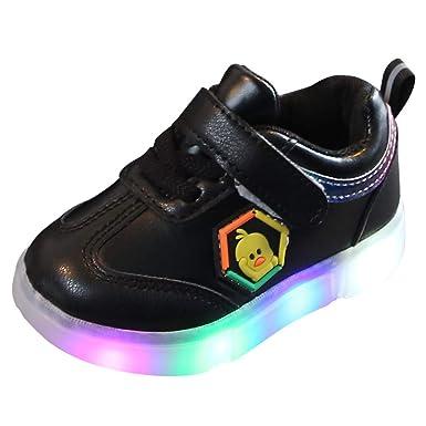 Hokoaidel Zapatillas de Deporte Ligeras LED Respirables del ...