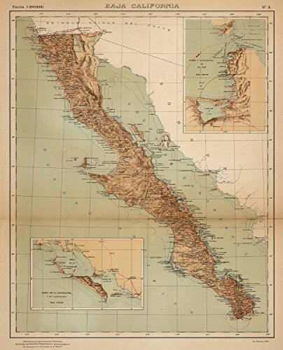 Map Poster - No. 3: Baja California