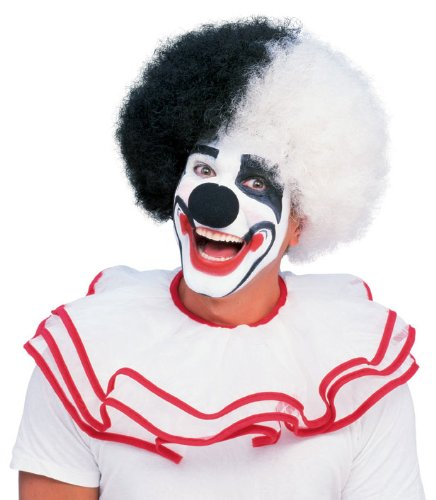 Rubie's Costume Deluxe Clown Wig, Black/White, One Size