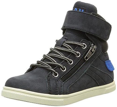 PLDM by Palladium Veleda Wp - Zapatillas de Deporte de cuero Infantil Azul - Bleu (315/Black)
