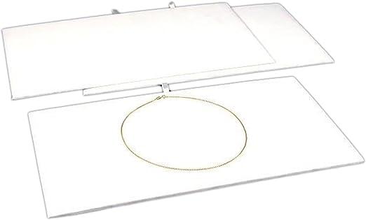 pack of 6 Luxurious Black Velvet Jewelry Display Pads 14 1//8