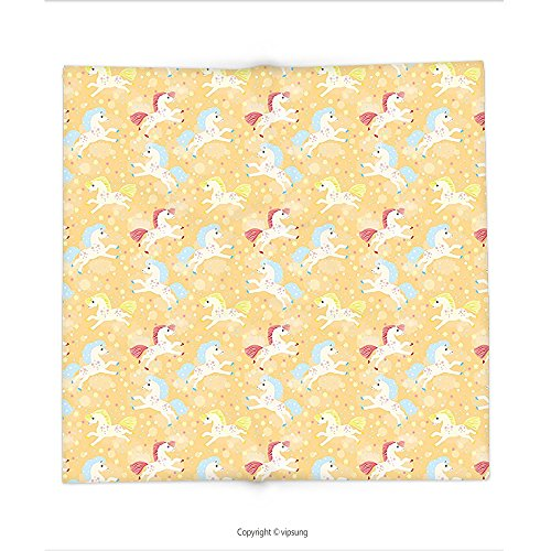 Custom printed Throw Blanket with Kids Decor Nursery Boys Girls Room Unicorns with Abstract Stars Light Salmon Backdrop Image Multicolor Super soft and Cozy Fleece (North West Halloween Unicorn)