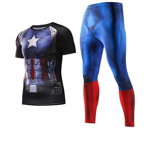 WENHUI Capitán América Traje De Entrenamiento Traje De ...