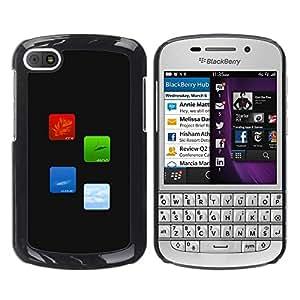 TopCaseStore / la caja del caucho duro de la cubierta de protección de la piel - Fire Earth Water Air Elements Of Life - BlackBerry Q10