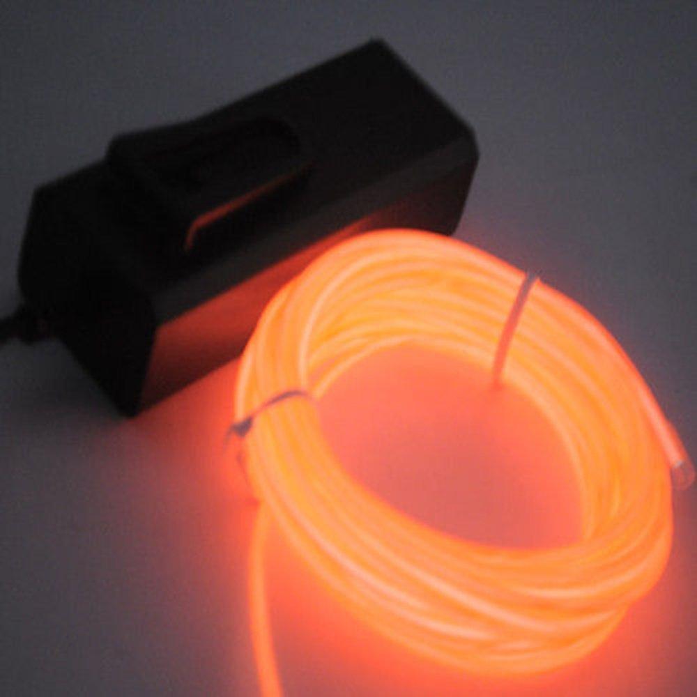 5M EL Wire Batterie Betrieben EL Kabel Neon Beleuchtung für ...