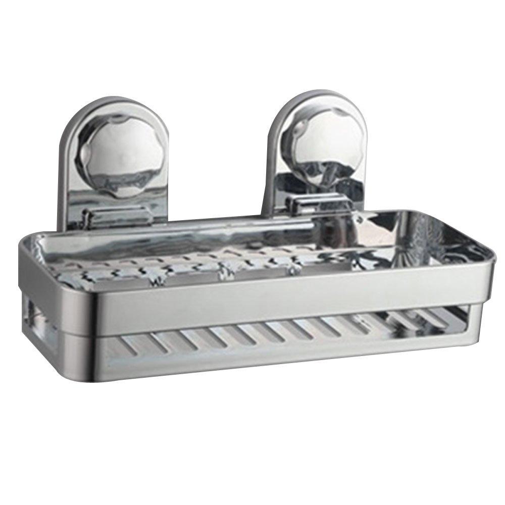 Pannow Ducha Caddy con Super Fuerte ventosas Acero Inoxidable bañ o Caddy Pared estantes de Almacenamiento Cesta de Cocina