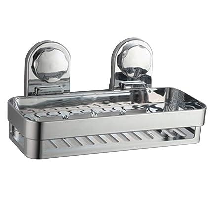 Ripiano per doccia in alluminio con ventose super forti, per bagno e ...