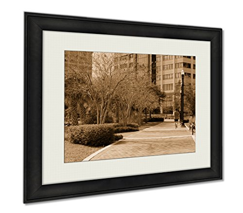 Ashley Framed Prints Jacksonville Florida River Walk, Wall Art Home Decoration, Sepia, 34x40 (frame size), AG5431831 by Ashley Framed Prints