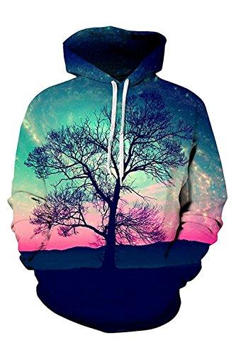 ZNLISA Unisex 3d Christmas Digital Print Pullover Hoodie Sweatshirt PinkXXXX-Large Trend (Jumpers Christmas Women's Asos)