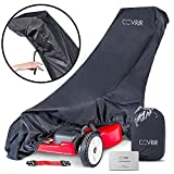 COVRIR Ultra-Tech Push Lawn Mower Cover With Adjustable Fit And Waterproof Anti-UV Material. For Superior Outdoor All-Weather Protection.