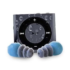 Waterfi Waterproof Apple iPod Shuffle with Short Cord Waterproof Headphones (New Model) (Space Grey)