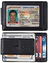 Money Clip Front Pocket Wallet Slim Minimalist Wallet RFID Blocking