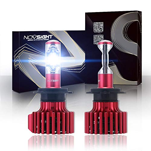 Decolla Upgraded Pack-2 Car Headlight Bulbs, Nighteye Conversion Kits 60W 10000LM 6000K Cool White CSP LED Automotive Driving(Model: A381-N6 H8/H9/H11)