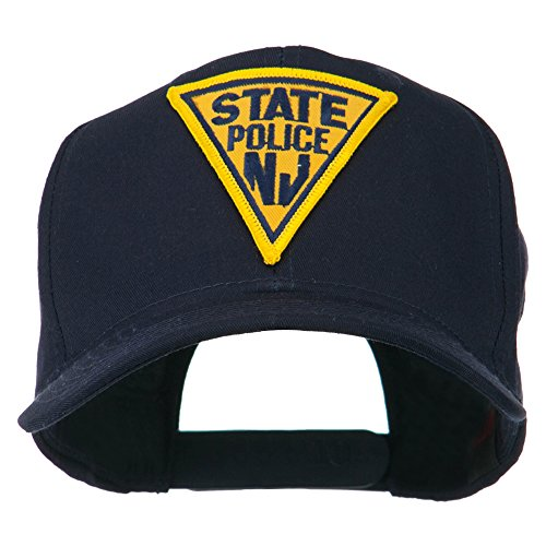 - E4hats New Jersey State Police Patched High Profile Cap - Navy OSFM