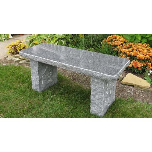 Stone Age Creations BE-GR-4 Granite Bench, Charcoal
