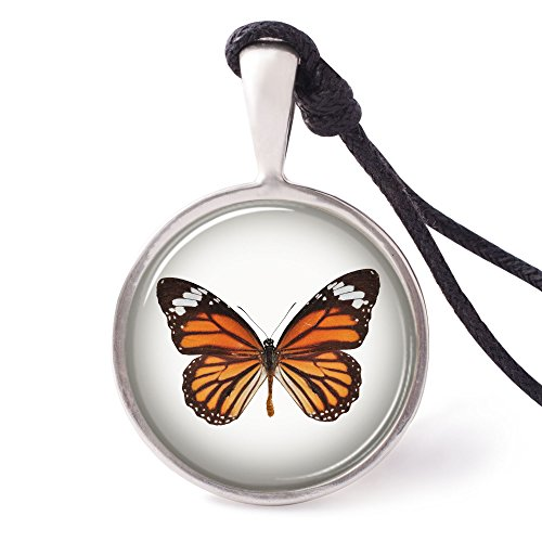 Vietguild's Monarch Butterfly Necklace Pendants Pewter Silver -
