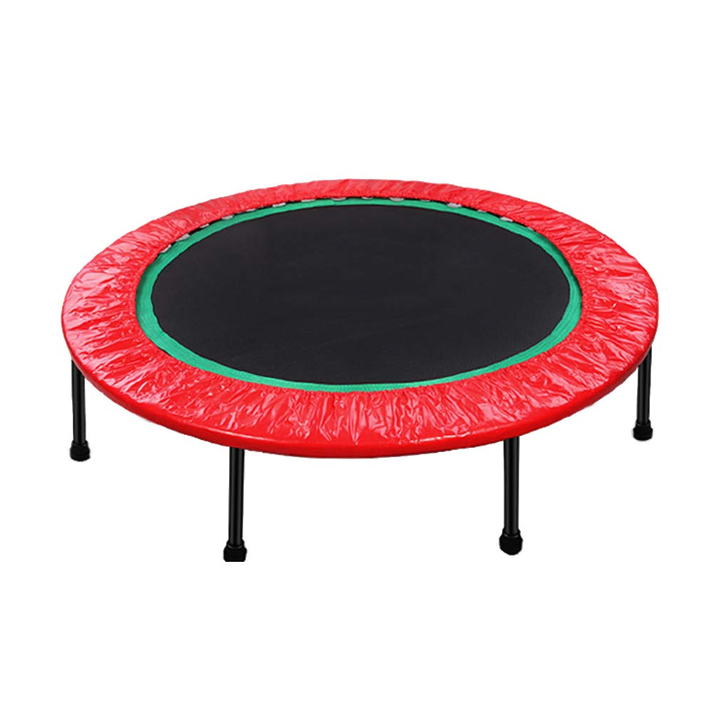 48 Zoll Trampolin Faltbare Indoor, Mini-Fitness-Trampoline für Kinder, Max Load 496lbs - Rot