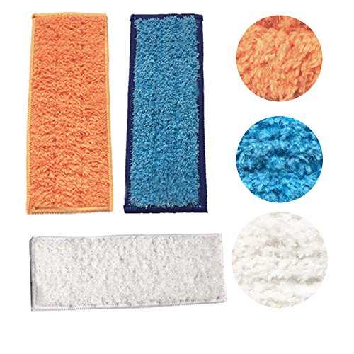 ANBOO Washable Mopping Pads for iRobot Braava Jet 240 241 (1 Wet Mopping Pads, 1 Damp Sweeping Pads and 1 Dry Sweeping Pads)