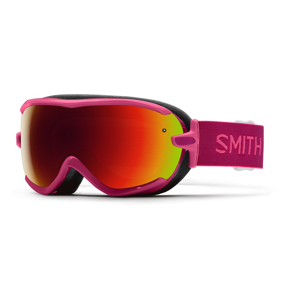 Smith Virtue Women's Snow Goggles Fuchsia Static with Red Sol-X Lens