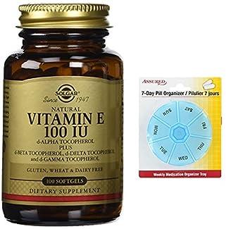 Solgar - vitamina E 100 IU mixta Softgels (100 UI D-alfa tocoferol y