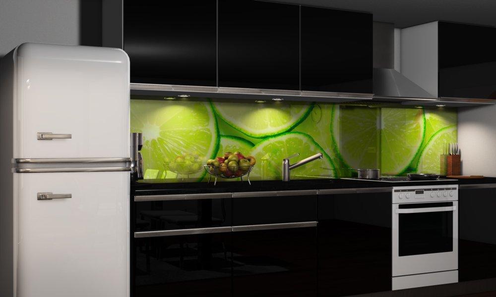 Küchenrückwand-Folie Grüner Citrus Klebefolie Spritzschutz Küche Fliesenspiegel Möbel Rückwand Rückwand Rückwand selbstklebend   mehrere Größen   DIY B01MZ8PS64 Wandtattoos & Wandbilder 639d07