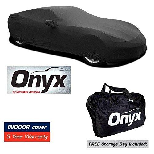C7 Corvette HIGH END Onyx Black Satin Custom FIT Stretch Indoor CAR Cover FITS: All C7 14-19 -