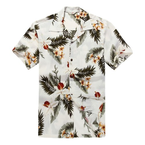 Men's Hawaiian Shirt Aloha Shirt 3XL Orchid ()