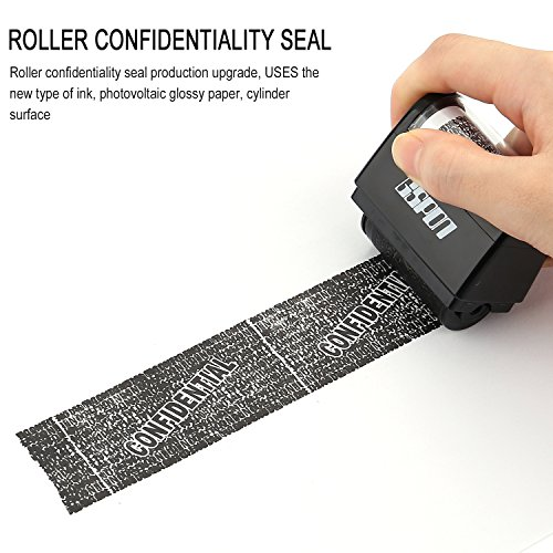 GSPON Wide Roller Stamp, Advanced Identity Security Protection Roller Stamps Security Hide ID Garbled Rubber Stamp Perfect for Privacy Protction.