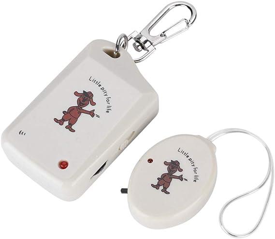 Allarme di sicurezza personale allarme portatile a vibrazione portachiavi anti-perso del fumetto Allarme di sicurezza antifurto dei bagagli del bambino con la funzione di ricerca