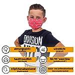 Facetex-3er-Pack-Mundschutz-Maske-Kinder-Junge-Mdchen-waschbar-rosa-pink-Sterne-aus-100-Baumwolle-Oeko-TEX-100-Standard-Earloop-Design-wiederverwendbarer-Mund-und-Nasenschutz-Ab-10