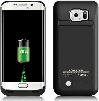 Funda Bateria para Galaxy S6 Edge, 4200mAh Carcasa Bateria Externa Recargable Portatil Protector Cargador Power Bank Case para Samsung Galaxy S6edge negro: Amazon.es: Electrónica