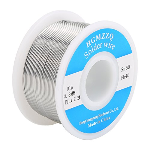 HGMZZQ 60/40 Tin Lead Solder Wire with Rosin for Electrical Soldering 0.031 inch(0.8mm-0.22lbs)