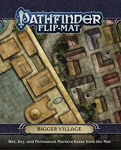 Pathfinder Flip-mat - Bigger Village (Gamemastery Flip Map)