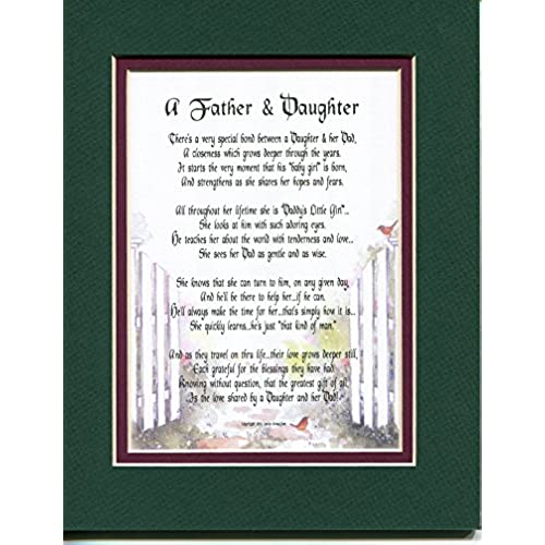 a father and daughter a fathers day gift poem christmas birthday present for a dad father and or daughter 21