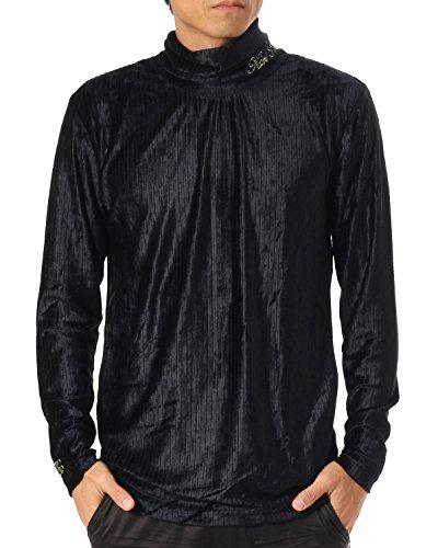 (カールカナイ ゴルフ) KarlKani GOLF アンダーウェア 針抜きベロア タートルネック シャツ 173KG1104 ブラック Lサイズ