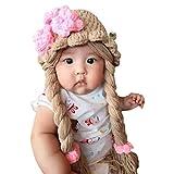 Disney Princess Rapunzel knit baby girl hat wig with braid (Medium)