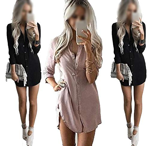 better-caress-round neck short-sleeved dress Speed Sell Fashion Casual T-Shirt Long Sleeve Shirt Loose Top,Khaki,L