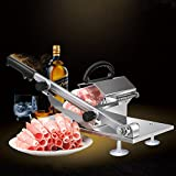 Manual Frozen Meat Slicer, Stainless Steel Meat Cutter Beef Mutton Roll Meat Cheese Food Slicer Vegetable Sheet Slicing Machine for Home Cooking Kit of Hot Pot Shabu Shabu
