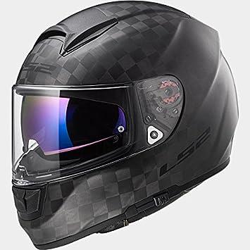 LS2 FF397 Vector C Carbón Bluetooth Listo (No Incluido) Doble Visera Casco de Moto