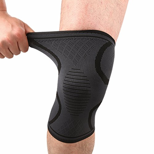 Forward Knee Compression Sleeves Knee Support Brace for Meniscus Tear, ACL, MCL, Arthritis, Joint Pain Relief – Knee Braces for Running, Weightlifting, Basketball, Men and Women 1 Pair – DiZiSports Store