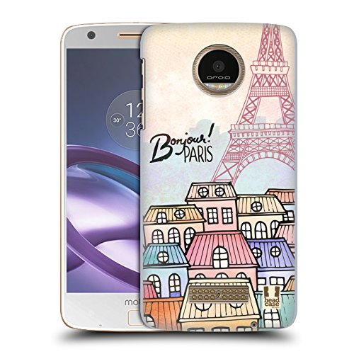 Head Case Designs Townhouses I Dream Of Paris Hard Back Case for Moto Z Force / Z Force Droid (Case Townhouse)
