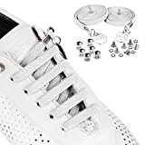 SevenUp Elastic No Tie Shoelaces Shoestrings, Super Stretch Nylon Shoe Laces, 39.4 inches, Best Lock Shoelaces for Kids and Adults, Fit Most Shoes(White)