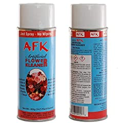 silk flower and plant cleaner to protect and maintain the original beauty of your silk plants. Caring for your silk flower arrangements is simple with the AFK Artificial Flower Kleaner. Perfect for use on artificial flowers, wreaths, garlands...