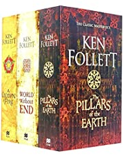 Ken Follett The Kingsbridge Novels Stories Collection 3 Books Set (The Pillars of the Earth, World Without End, A Column of Fire)