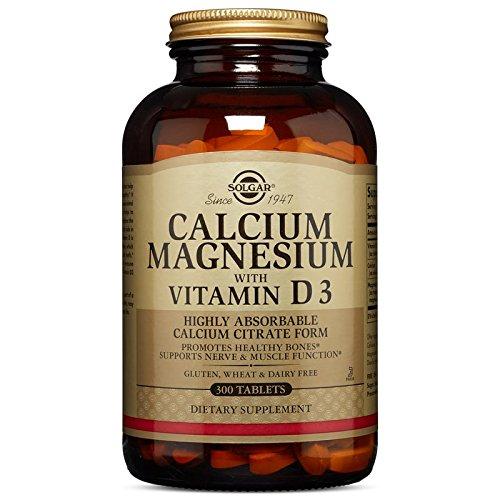 Solgar Calcium Magnesium with Vitamin D3 Tablets, 300 Count (Calcium Vitamin D Magnesium)