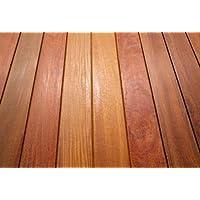 Rojo y amarillo madera Balau Tropical Decking madera