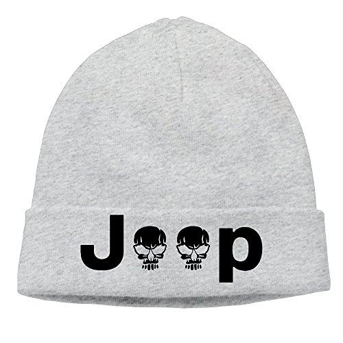 EWIED Men's&Women's Jeep Logo With Creative Skull Symbol Patch Beanie MountaineeringAsh Caps Hats For Autumn And (St Jude Logo)