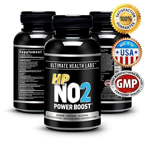 Meilleur NO2 oxyde nitrique Booster ET L-Arginine Supplément - 120 Capsules pour bâtir la masse musculaire maigre, augmenter l'endurance, Maximiser les gains de force + récupération plus rapide de la séance d'entraînement - 100% Garantie inconditionnelle